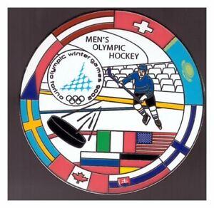 Torino 2006 Olympics p in - nice large Men's hockey pin