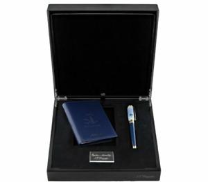 "ST Dupont Kit Monet Fountain Pen 18k & Wallet ""Impression Sunrise"" 410049LC2"