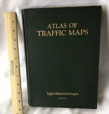 1924 ATLAS OF TRAFFIC MAPS w/ 21 road maps + railway maps as new HC VG