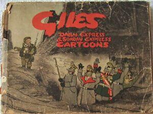 Giles Annual No. 1 - Original Annual Pub 1946 - Contains WW2 Cartoons - WORN