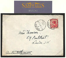 MS1261 1916 EGYPT WW1 *Chief Commissioner British Red Cross* Signed Cover London