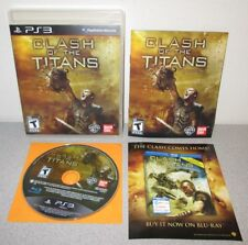 CLASH OF THE TITANS PlayStation 3 Complete w/Manual Greek Mythology Action PS3