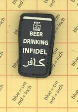 PVC Infidel Beer Drinking Morale PATCH Military Tactical POLICE SWAT black 31