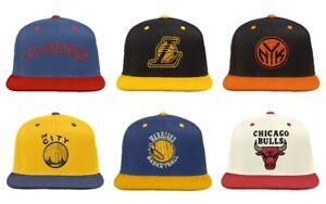 adidas Men's NBA Vintage Two-Tone Logo Adjustable Snapback Hats - Choose Team