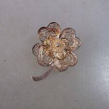 Filigrane Trachtenbrosche Blüte Silber (46743)