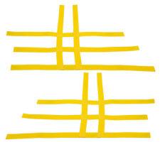 LTZ 400 KFX 400 DVX 400   Nerf Bar Nets   Fits Alba Tusk    Yellow  A