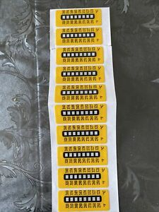 10 Pack - Irreversible Temperature Labels Strips (121-160•C) (250-320•F)…