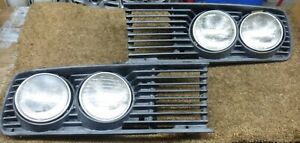 BMW E28 535i m535i 528e 535is M Us OEM Headlight Grill Grill Left & Right Pair