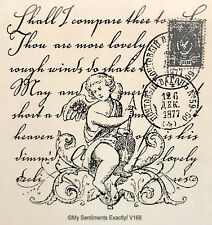 NEW MSE! My Sentiments Exactly! Unmounted Rubber Stamp V166 Cupid