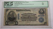 $5 1902 Benton Harbor Michigan MI National Currency Bank Note Bill #10529 FINE!