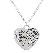 Mother & Daughter Heart Quote Necklace