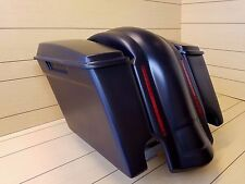 "SADDLEBAGS 4"" WITH DUAL CUT OUTS,LIDS AND  REAR LED LIGHT FENDER INCLUDED FOR HD"