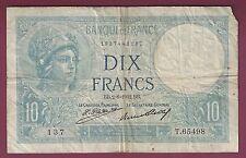 France 10 Franc Banknote, Circulated, 1932