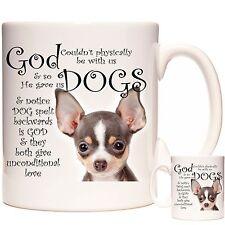 Chihuahua mug, Can be personalised. Dishwasher safe. Matching Coaster Available