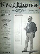 REVUE ILLUSTRéE GRAVURES ART THEATRE LITTERATURE RELIURE 12 N° 1er SEMESTRE 1892