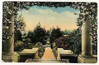 Pasadena California Postcard CA View Of Busch Sunken Gardens From Pergola 1910's