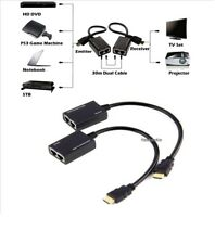 HDMI Over RJ45 CAT6 CAT5e  Cable LAN Ethernet Extender Repeater 3D up to 30M