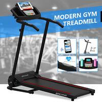 Motorized Electric Treadmill Running Cardio Machine Folding w/ Bottle PAD Holder