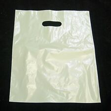 """200 12""""x15"""" White Glossy Low-Density Plastic Merchandise Bags Wholesale Bags"""