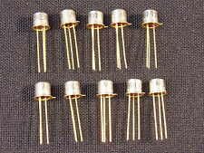 Tested & Guaranteed Qty 10: 2N2369 Vintage Transistor Gold Leads USA Seller NOS