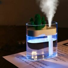 Cactus Air Humidifier Clear Color Essential Oil Diffuser Ultrasonic Mist Maker