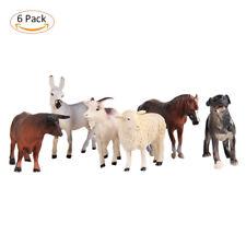 6pcs/set Simulated Farm Animals Action Figure Toys Jumbo Plastic Educational Toy