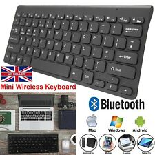 MINI SLIM WIRELESS KEYBOARD BLUETOOTH CORDLESS FOR PC LAPTOP ANDROID APPLE BLACK