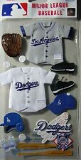 EK Success Jolee MLB Los Angeles Dodgers Scrapbook 3D Uniform Stickers MLBJB004