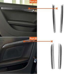 4pcs Carbon Fiber Interior Door Handle Pad Panel Trim Fit For Audi A5 2009-2016