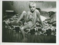Goldie Hawn original rare photo in short nightdress and slippers late 1960's