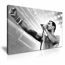 THE QUEEN Freddie Mercury Music Canvas Framed Print 30X20 INCH / 76x50CM