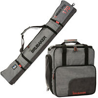 BRUBAKER 'Performance' Combo Boot Bag + Padded Ski Bag 170 / 190 cm Black Grey