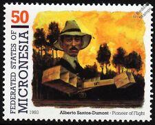Alberto Santos-Dumont 14-bis (oiseau de proie) Canard BIPLAN AVION TIMBRE