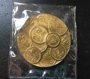 1984 Panda 30Th Anni of ShangHai Mint Brass Panda Coin Medal  , Rare