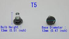 10pcs T5 Neo Wedge Dash LED Bulbs (Red)