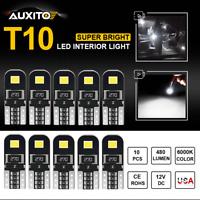 10X 12V T10 194 168 W5W SMD LED Car HID White CANBUS Error Free Wedge Light Bulb
