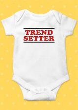 Trend Setter Happy Smile Funny Cool Baby Shower Boy Girl Bodysuit Romper 22