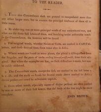 1804 Bible John Brown/ Antique//King James I-w/ Firth/Fogg Family Tree