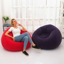 Inflatable Chair Sofa Blow Up Seat Gaming With Air Pump  Outdoor Indoor Lounger