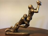 "1980's Austin Football Sculpture ""The Long Bomb"" Sports"