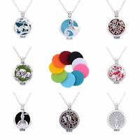 Women Locket Fragrance Aromatherapy Essential Oil Diffuser Pendant Necklace New
