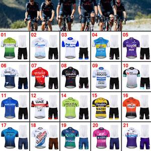 Men's Cycling Clothing Set Jersey Short Bib Shorts Set Summer Bike Outfits Kits