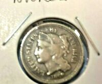 1869 3 Cent Nickel Piece