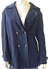 LEON FILIPS vintage ladies size 14 coat wool cashmere black fully lined