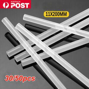 30/50x Bulk Hot Melt Glue Sticks Clear Adhesive Craft Stick Glue Gun 11*200mm AU