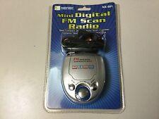 MINI DIGITAL FM SCAN RADIO, BELT CLIP, STEREO EARPHONES, NX501, NEW, SEALED