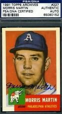 MORRIS MARTIN SIGNED PSA/DNA 1953 1991 TOPPS ARCHIVES AUTOGRAPH AUTHENTIC