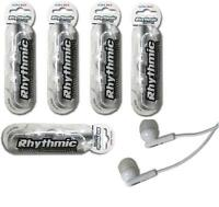 5 x WHITE  HEADPHONES / EARPHONES WITH MIC FOR iPHONE, iPad,MP3, BLACKBERRY
