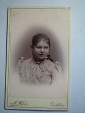 Lutheran-Young Woman in dress-Portrait/Cdv