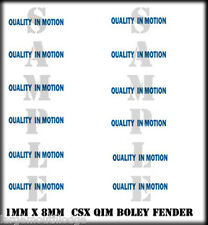 NEW PEEL & STICK BOLEY VEHICLE FENDER DECALS CSX QUALITY IN MOTION HO SCALE 1/87